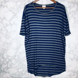 LulaRoe Irma Stripe Tunic Top